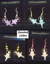 BALLERINA EARRINGS-Pastel Dance Teacher Charm Funky Jewelry-1-Pr