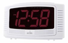 Acctim Vian Alarm Clock 3cm Red LED Display Mains Powered Battery Backup