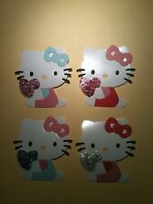 Hello Kitty Sitting with Heart Cat Girls Cute Die Cuts (Cards)