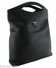 THIERRY MUGLER BLACK PU LEATHER TOTE PARFUMS BAG, PURSE BRAND NEW