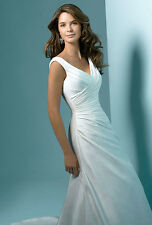 BRAND NEW Alfred Angelo 1148 Wedding Dress - Size 6 (Diamond White)