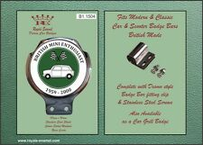 Royale Car Bar Badge - BRITISH MINI ENTHUSIAST 1959 to 2000 Green - B1.1504