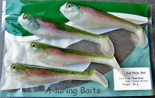 Minnow Shad Paddle Tail Lures Soft Bait Swimbait Fishing Tackle Jig Head 125mm
