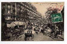 PARIS CPA 75 le boulevard poissonniere au restaurant viennois