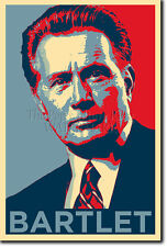 PRESIDENT BARTLET THE WEST WING PHOTO PRINT POSTER GIFT (OBAMA HOPE INSPIRED)