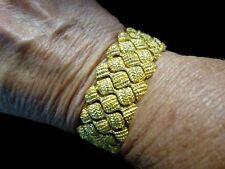 Authentic Vintage 1980's Gold Tone Braided Mesh Bracelet