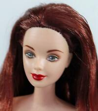 Barbie Doll Original Nude Raven Red Hair Twist and Turn For Play or OOAK