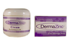 DermaZinc Skin Help Duo Cream Bar Soap Skin Therapy Zinc Pyrithione Unisex