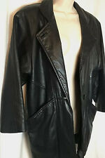 0240216P J Percy for Marvin Richards Leather Jacket Petite PP Black Women's Coat