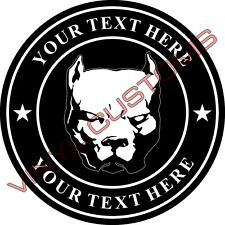 "5"" Your Text Here Vinyl Decal Sticker Pitbull Canario Dog"