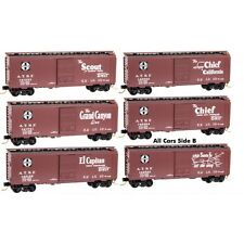 N Scale Micro Trains ATSF slogan 5-pack   --  NEW IN BOX