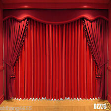 10x10FT Stage Red Curtain Vinyl Photography Backdrop Photo Background DZ720