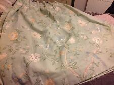 Laura Ashley Summer Palace Eau De Nil Curtains, New, Pleat Top
