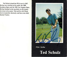 TED SCHULZ Hand Signed 4X3 Profile Golf Card