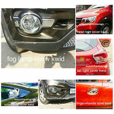 Chrome Combo Kit For Renault Kwid of 7pcs Head &Tail light+Fog Lamp+Mirror etc.