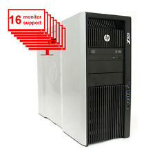 HP Z820 16-Monitor Computer/Desktop E5-2640 12-Core/16GB /1TB HDD/NVS 420/Win7