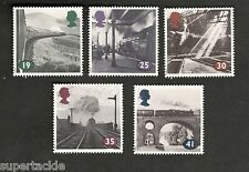 "1994 Great Britain #1533-37 ""The Age of Steam"" Θ used stamps"