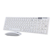 White Wireless Keyboard 2.4G Wireless Mouse USB Receiver Combo Kit for PC Laptop