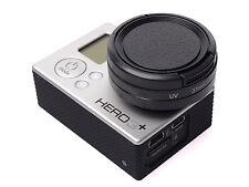 3 in 1 37mm UV Filter + Adapter Ring + Lens Cap for Go Pro HD Hero 4 3 UK SELLER