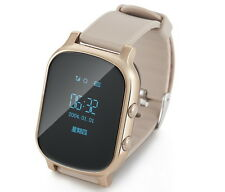 T58 Kid GPS Bluetooth Smart Sport Tracker Watch Phone for Android IOS Golden