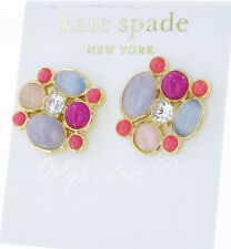 KATE SPADE New York 'Bashful Blossom' Pink Gold-Plated Cluster Earrings $78