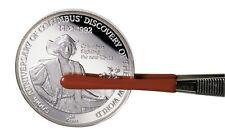Lindner Pinzette  12 cm  Münzenpinzette mit roter gummierter Spitze     art2014