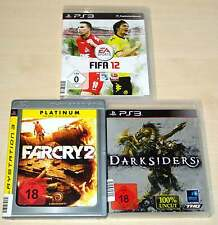 3 PLAYSTATION 3 PS3 SPIELE SAMMLUNG FIFA 12 FAR CRY 2 DARKSIDERS EGO SHOOTER