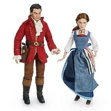 DISNEY BEAUTY AND THE BEAST LIVE ACTION FILM BELLE & GASTON DOLL SET--NEW