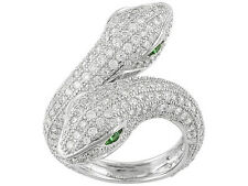 Amazing Bella Luce Snake Ring W/ 5.92ctw CZ in Rhodium Plated Sterling Silver