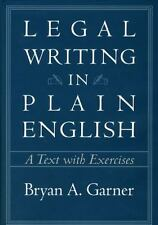 Legal Writing in Plain English: A Text with Exercises Chicago Guides to Writing