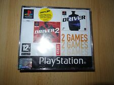 Driver 1 & 2-big box-version Playstation 1 PS1 game pal neuf scellé