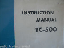 YAESU YC-500 (GENUINE INSTRUCTION MANUAL ONLY)...........RADIO_TRADER_IRELAND.