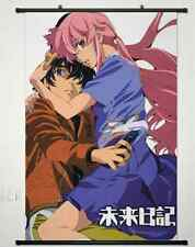 Home Decor Japanese Wall poster Scroll The Future Diary Gasai Yuno pink Art 016