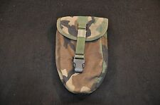 USGI USMC E-Tool Carrier, Molle II, Woodland Camouflage, Good Issued Condition