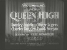 QUEEN HIGH 1930 (DVD) GINGER ROGERS, CHARLES RUGGLES