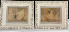 2pc Vintage Ballet Dancing Paintings Framed, Sophie Art Ballerina