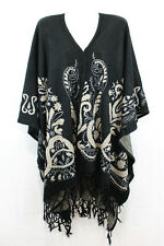 New Fancy Batwing Style Women Winter Poncho Warm Top Sweater Cardigan Coat#723