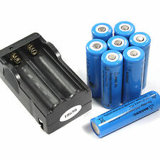 Branded 8 PCS 18650 3800mAh 3.7v li-ion Rechargeable Battery and 2 slots charger