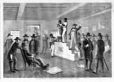 SLAVE AUCTION IN VIRGINIA AUCTIONEER NEGROES FOR SALE AT AUCTION BLACK AMERICANA