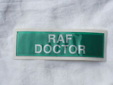 RAF DOCTOR,Lettering,Sew-on patches for yellow Warning jacket,reflective,3