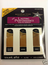 Max Factor Lasting Performance Liquid Makeup Shade Sampler FOR DARK SKIN.