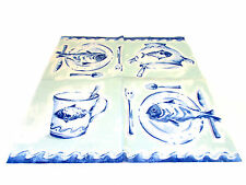 IHR - TOVAGLIOLI LUNCH - FRIENDLY FISH BLUE - 33x33cm - 4 PZ - L64340 - 63