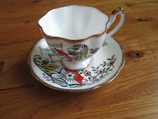 RARE The Queen's Beasts The White Lion of Mortimer Queen Anne Tea Cup and Saucer
