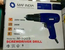 MAF/CLIF INDIA ELECTRIC SCREW DRIVER HIGH TORQUE 10MM CHUCK 280W