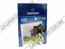 CANSON KIDS - A4 - 200 g/mq - BLOCCO 20 FG - BLOCCO DA PITTURA PER BAMBINI