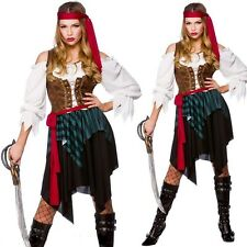Womens Ladies Female Sexy Caribbean Piratess Fancy Dress Costume Outfit U00 304