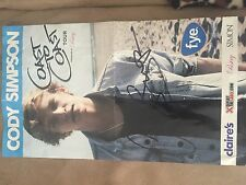 Cody Simpson Coast to Coast signed poster- August 6th 2011