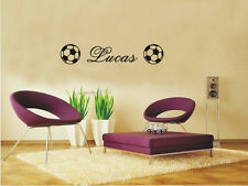 Personalised Football Wall Sticker Soccer Ball Kid Room Decal Stickers #1545