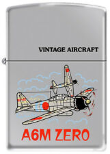 A6M Japanese Zero WWII Vintage Military Aircraft  Chrome Zippo Lighter