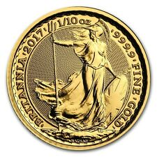 GRANDE BRETAGNE 10 Livres Or 1/10 Once Britannia 2017 - 1/10 Oz gold coin